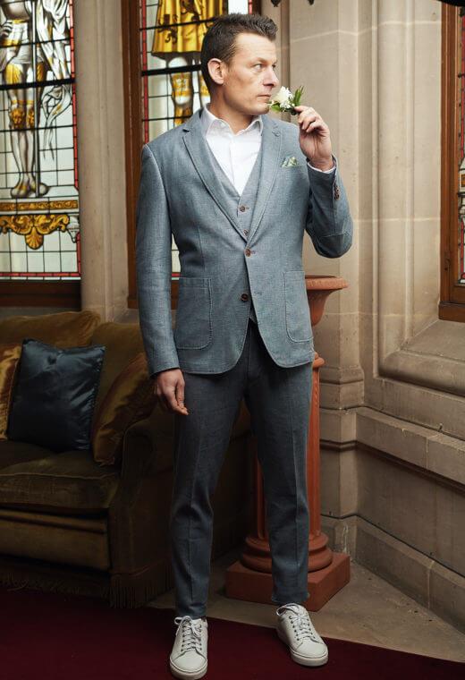 Pantalon homme chino LINCOLN-V523-7117