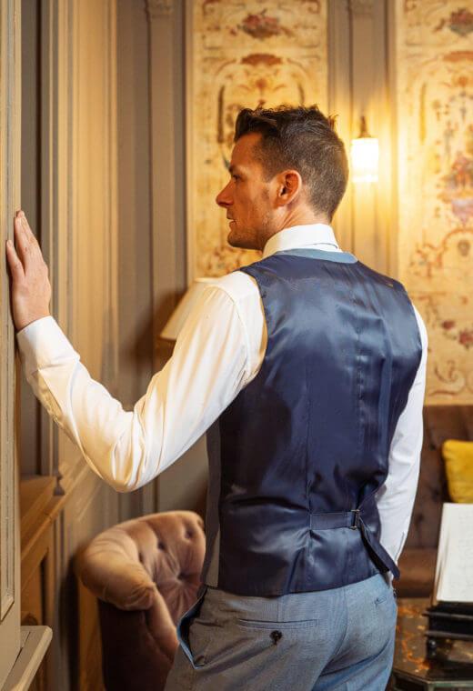 Gilet homme mariage prêt à porter Besançon Marque Française CHRIS-CT509-5511