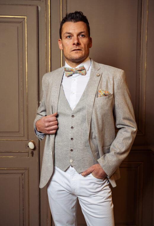 Gilet homme mariage prêt à porter Besançon Marque Française LYMA-V523-5684