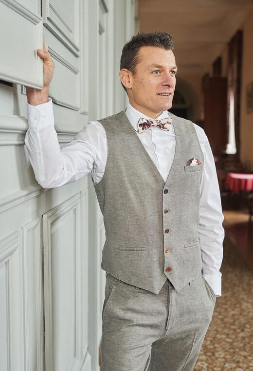 Gilet homme mariage prêt à porter Besançon Marque Française LYMA-V523-7118