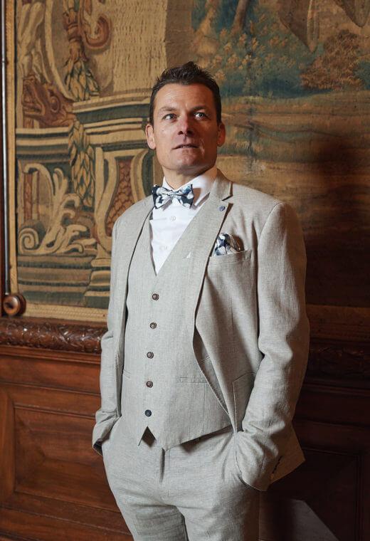 Gilet homme mariage prêt à porter Besançon Marque Française LYMA-V523-7119