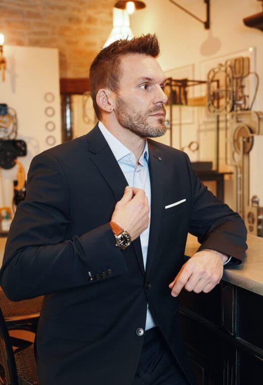 Costume Business Prêt à porter homme Besançon Marque Française TECHV-CT713-7250